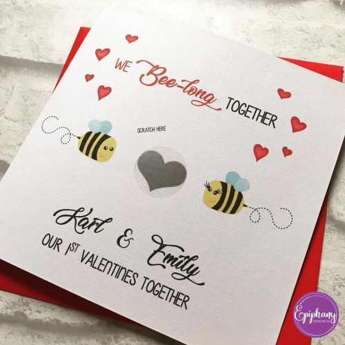 Scratch to Reveal Valentine's Card - We Bee long together
