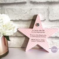 Christening Freestanding Star Personalised