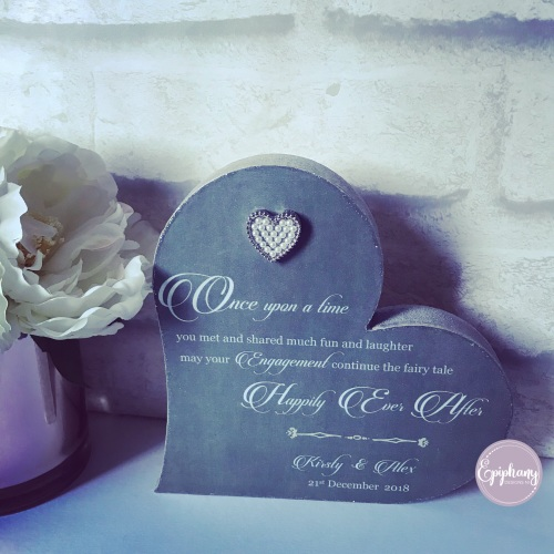 Happily Ever After Freestanding Heart - chalkboard effect