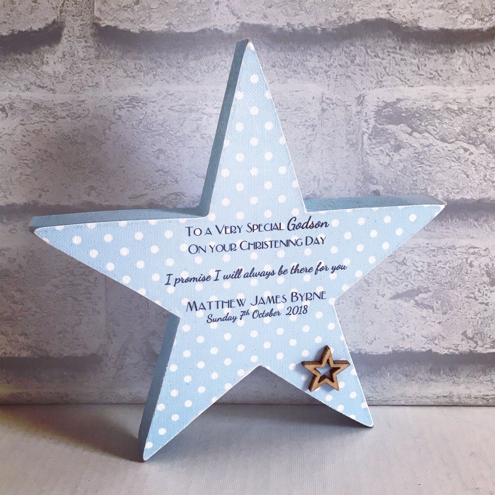 christnening star
