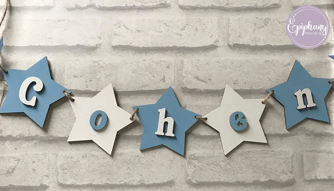 Star Bunting (per letter) Boys