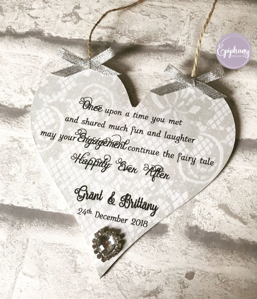 Happily Ever After Engagement Plaque personalised