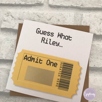 Scratch Card - Admit One - Concert surprise