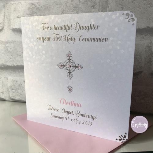 Chic Boutique Range Sequins Communion / Confirmation Card