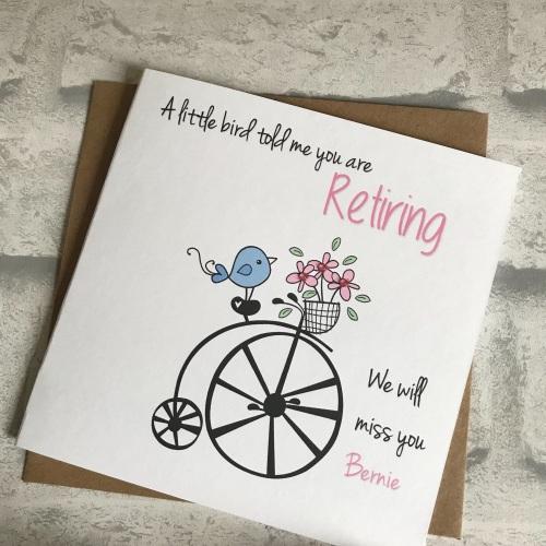 Retirement - a little bird told me