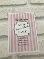 Personalised Wine label - After School Snack