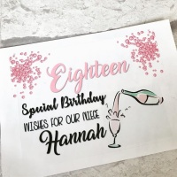 Birthday (Any Age) Wine or Prosecco Bottle Labels