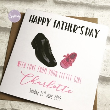 Fathers Day Card - from your little girl