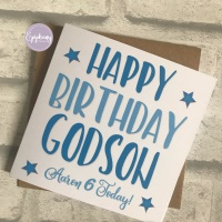 Birthday Card Typography - Personalised