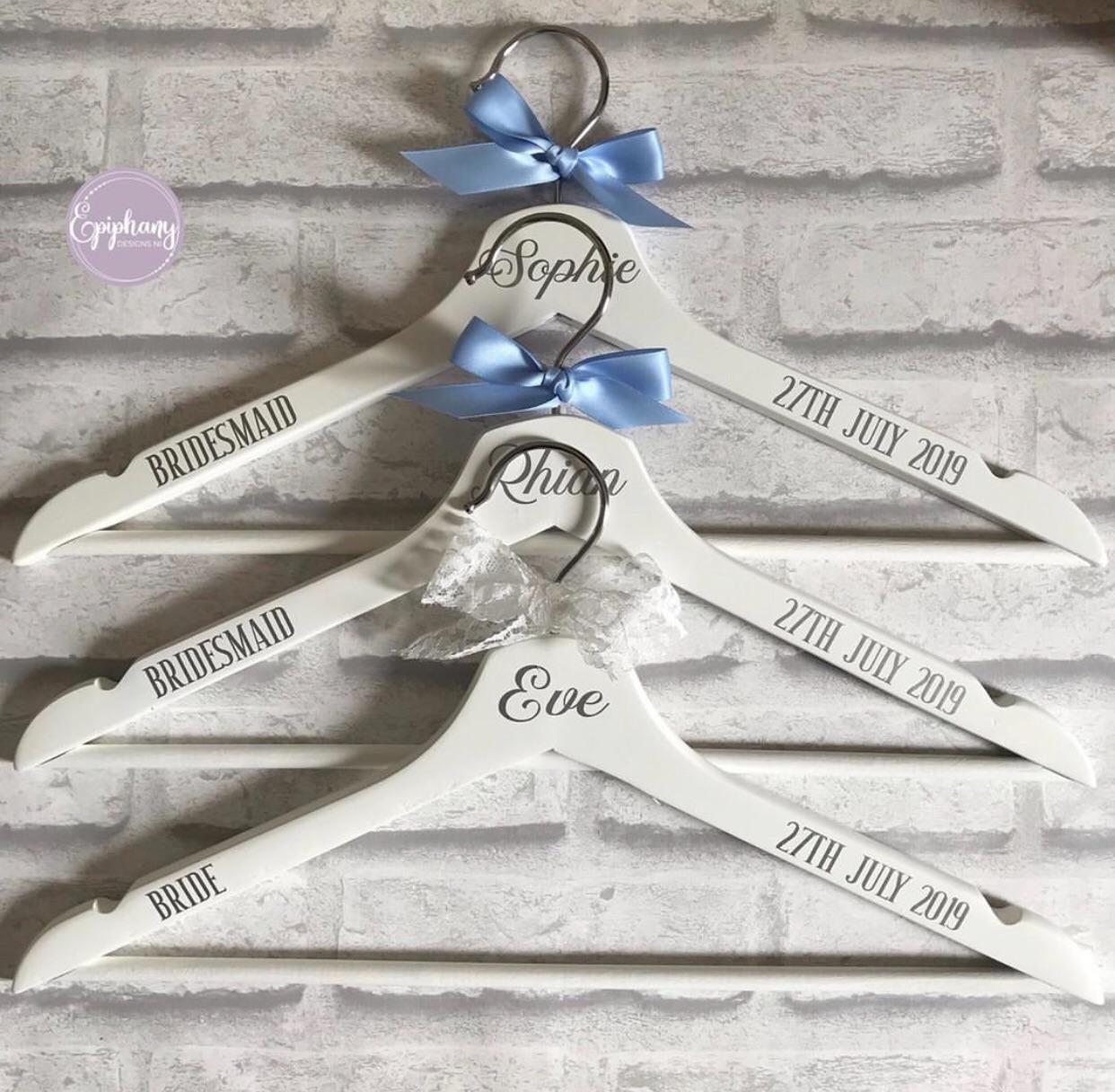 Silver foil print on White hanger