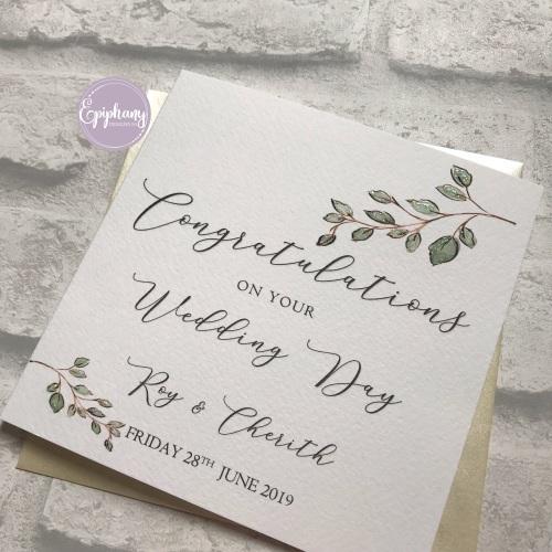 Chic Boutique - Floral Frame Wedding Congratulations Card