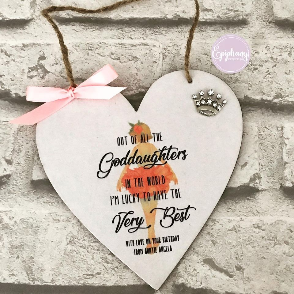 Heart Plaque - Goddaughter