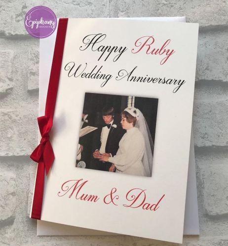 Wedding Anniversary Congratulations Card Large with photo