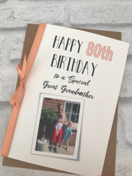 Birthday Card with photo - standard