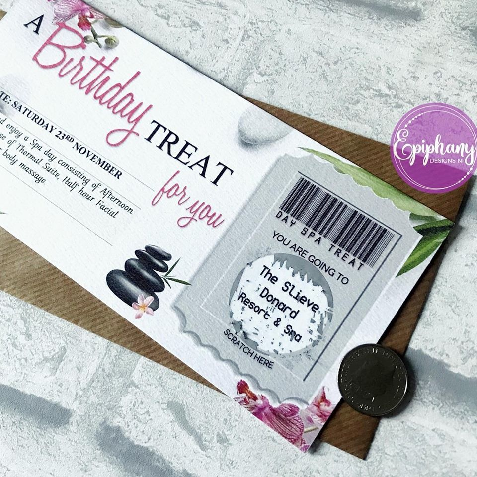 scratch voucher - treat for you - day spa scratched