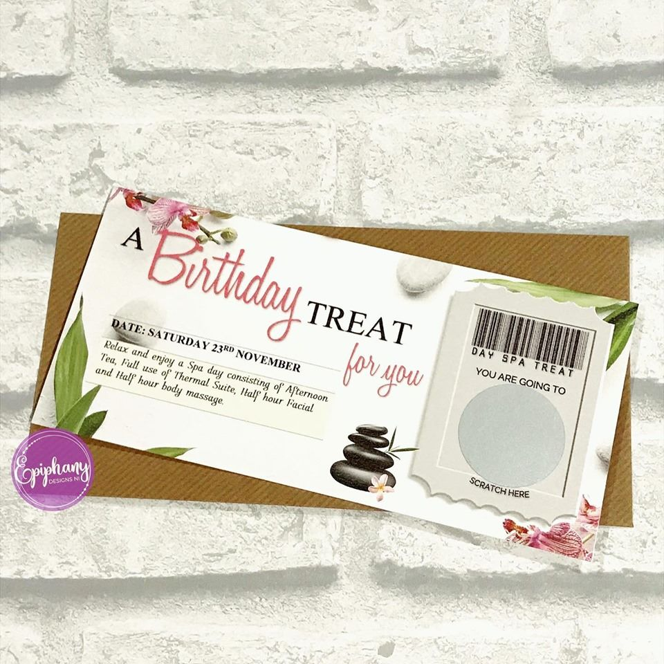 scratch voucher - treat for you - day spa