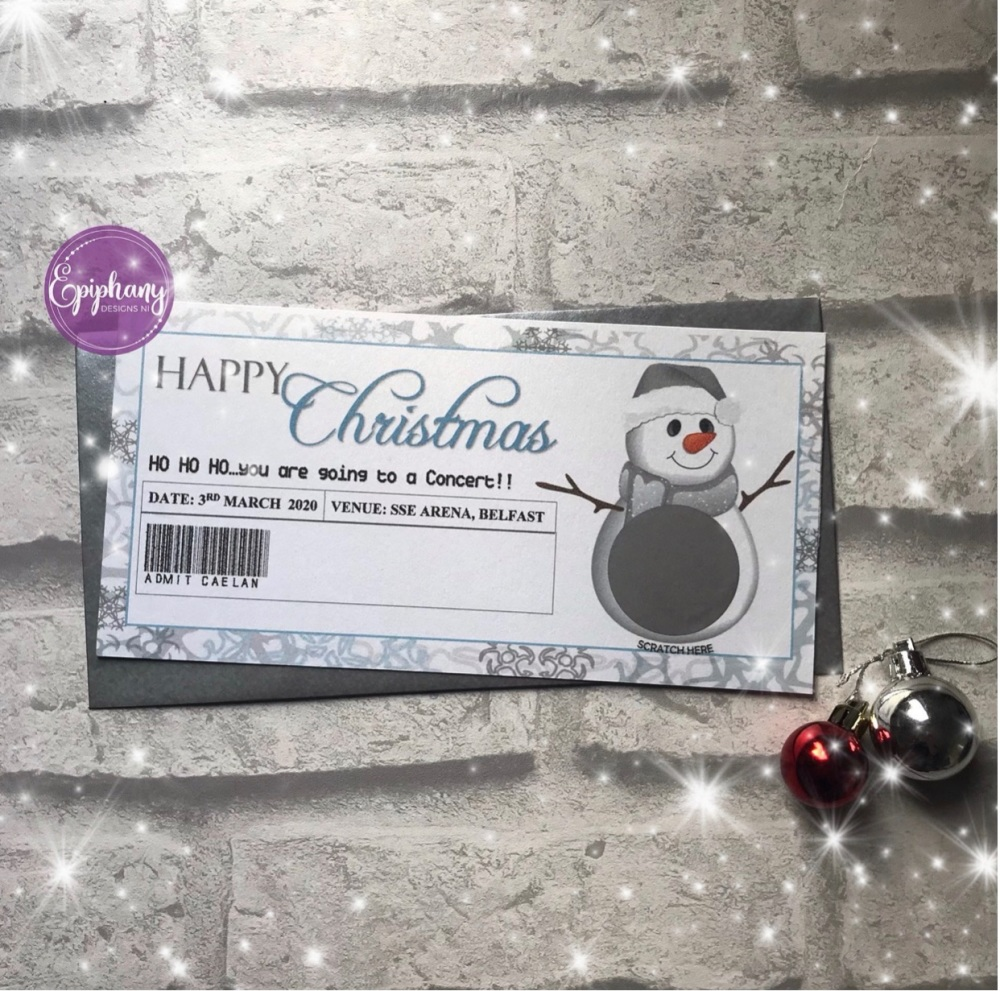 Christmas Scratch Surprise Voucher - snowman