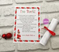 Elf on the Shelf Scroll - I'm Back