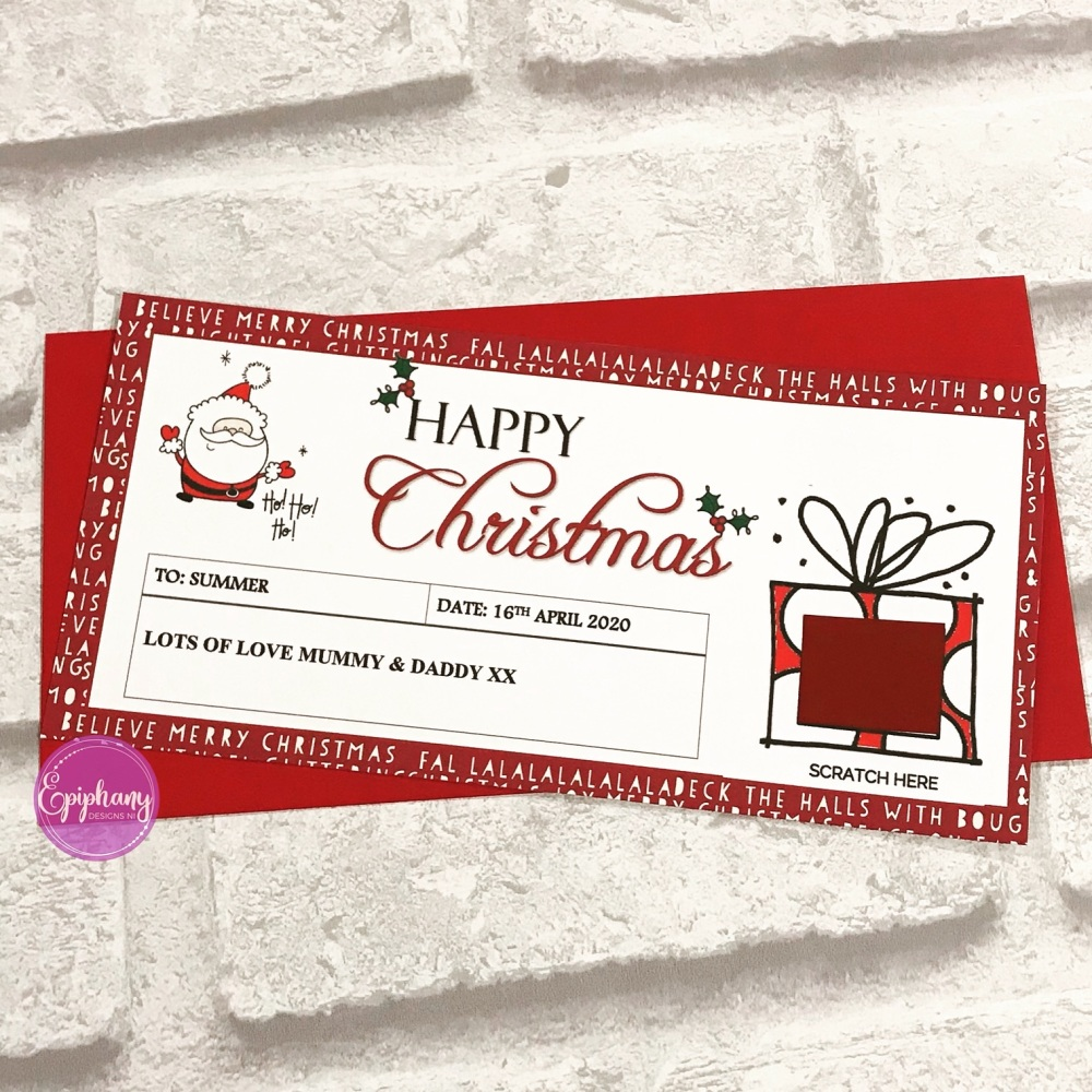 Christmas Scratch Surprise Voucher - present