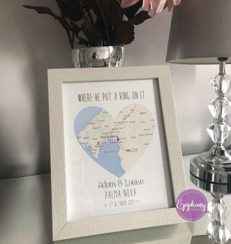 Engagement Map   - Personalised (framed/unframed)