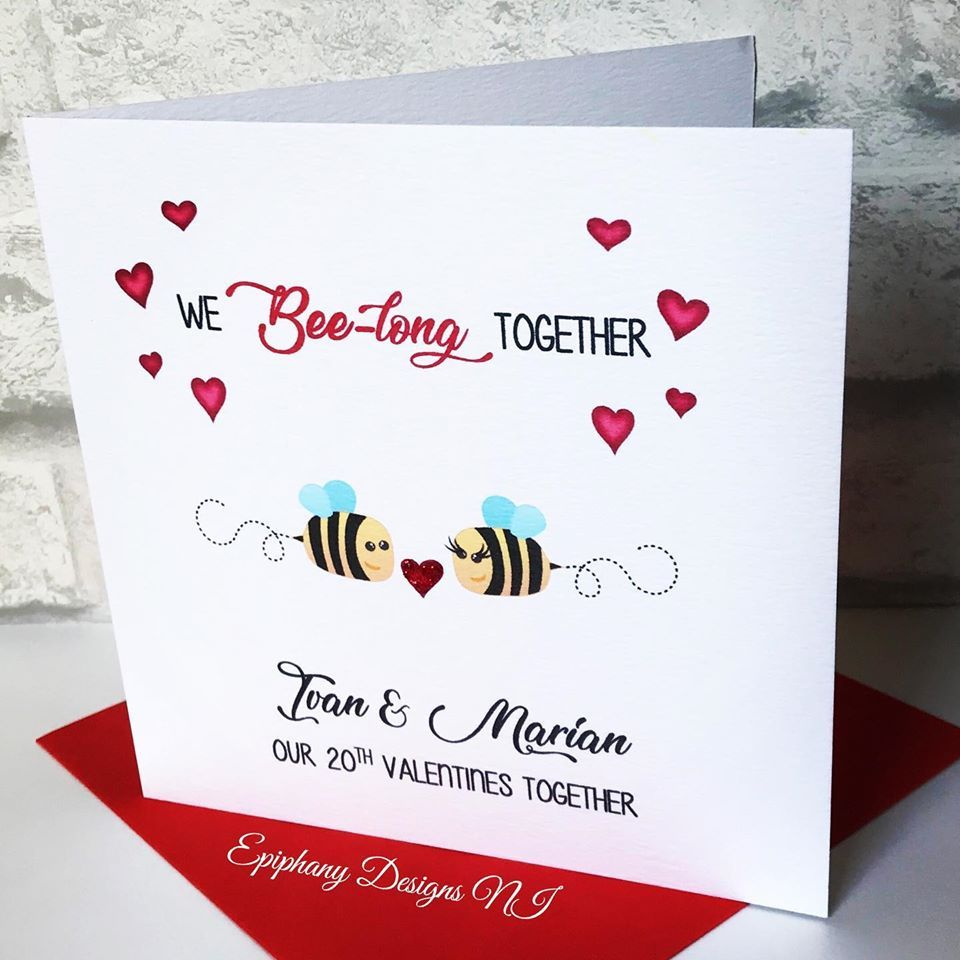 Personalised Valentine's Card - We Bee long together