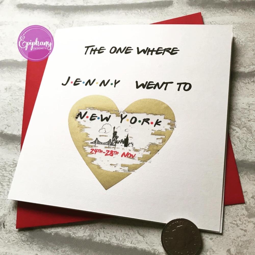 Scratch Card - Friends theme -New York Surprise