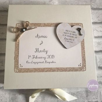 Rustic Engagement, Wedding, Anniversary Keepsake Box