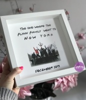 The one where they went to New York personalised frame