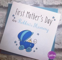 First Mothers Day Card - as (childs name) mummy  -boy