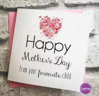 Mothers Day Card - from your favourite child