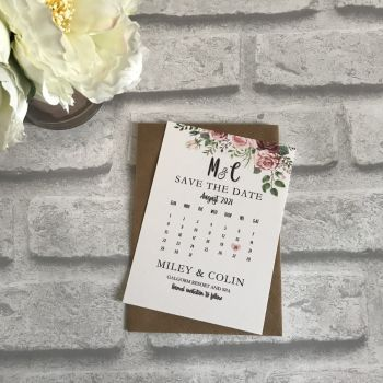 Save the Date - Vintage Floral (pack 10)