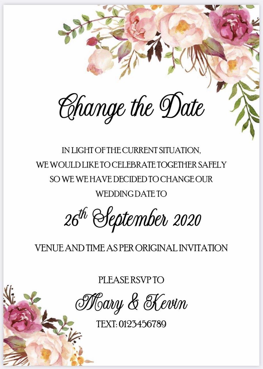 Change of Date Digital Download - Vintage Rose