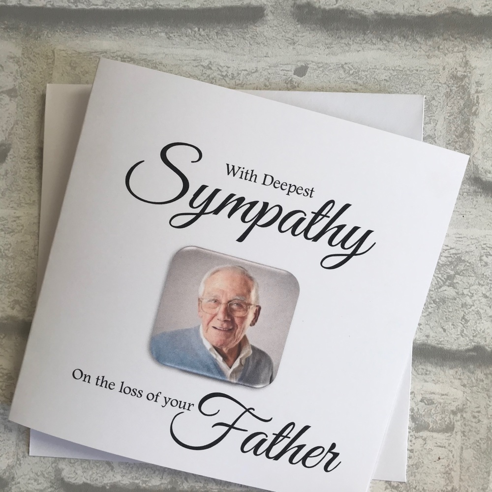 Sympathy Card with photo