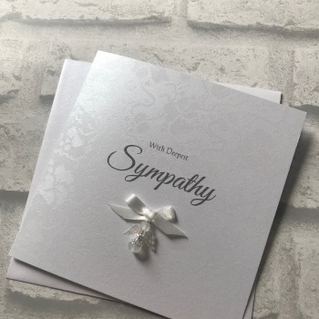 Luxury Sympathy Card - Thinking of you - with angel charm