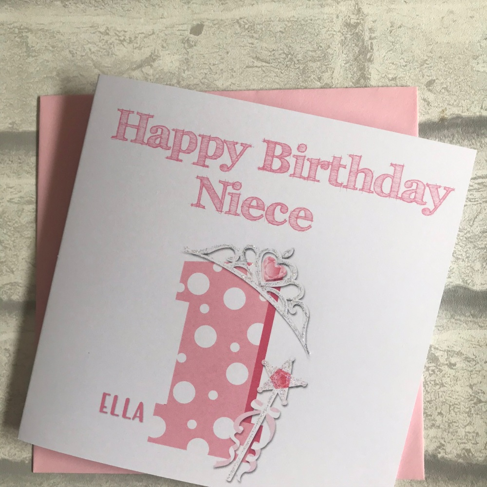 Childrens Birthday Card with age