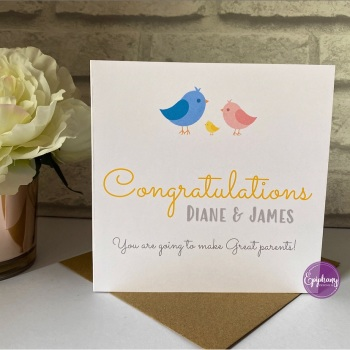 Congratulations Card - parents to be, grandparents to be