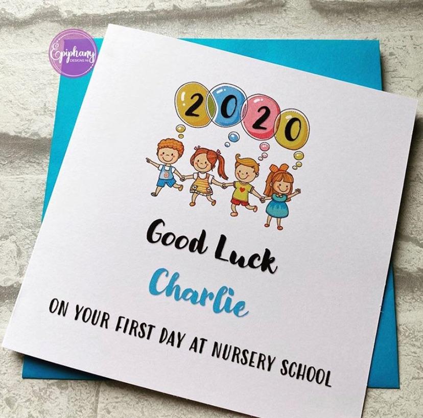 Starting Nursery School Card