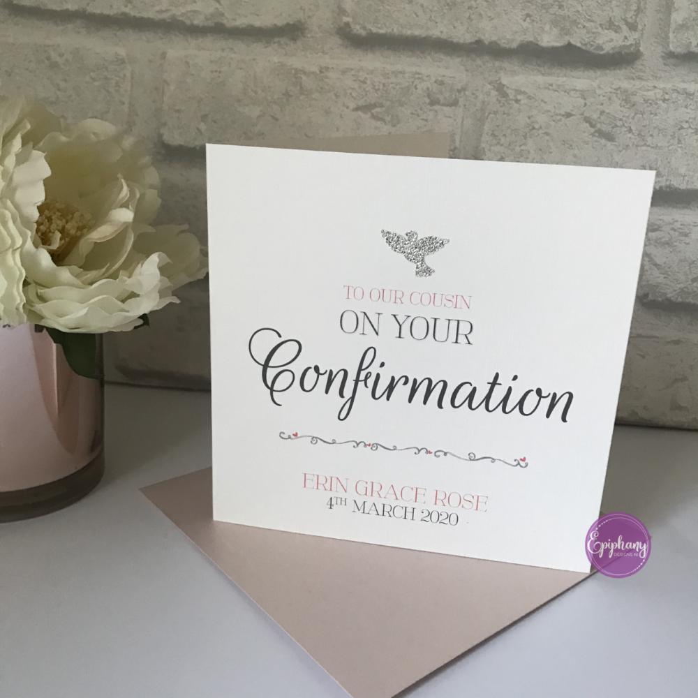 Chic Boutique Range Girls Communion / Confirmation Sequins Card