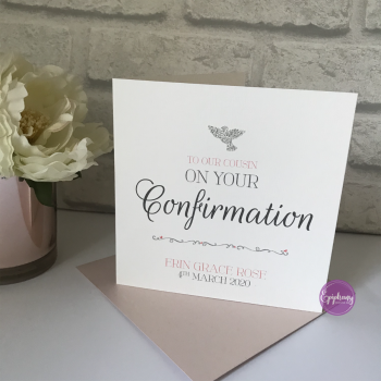 Chic Boutique Range Girls Communion / Confirmation Sequins Card with Dove