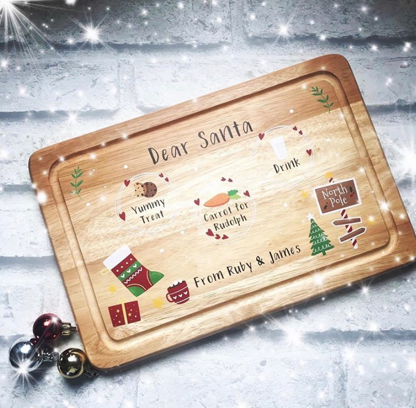 Christmas Eve Board - personalised - Dear Santa
