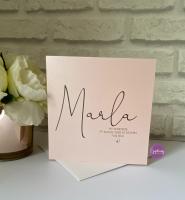 New Baby Girl Card - Script name