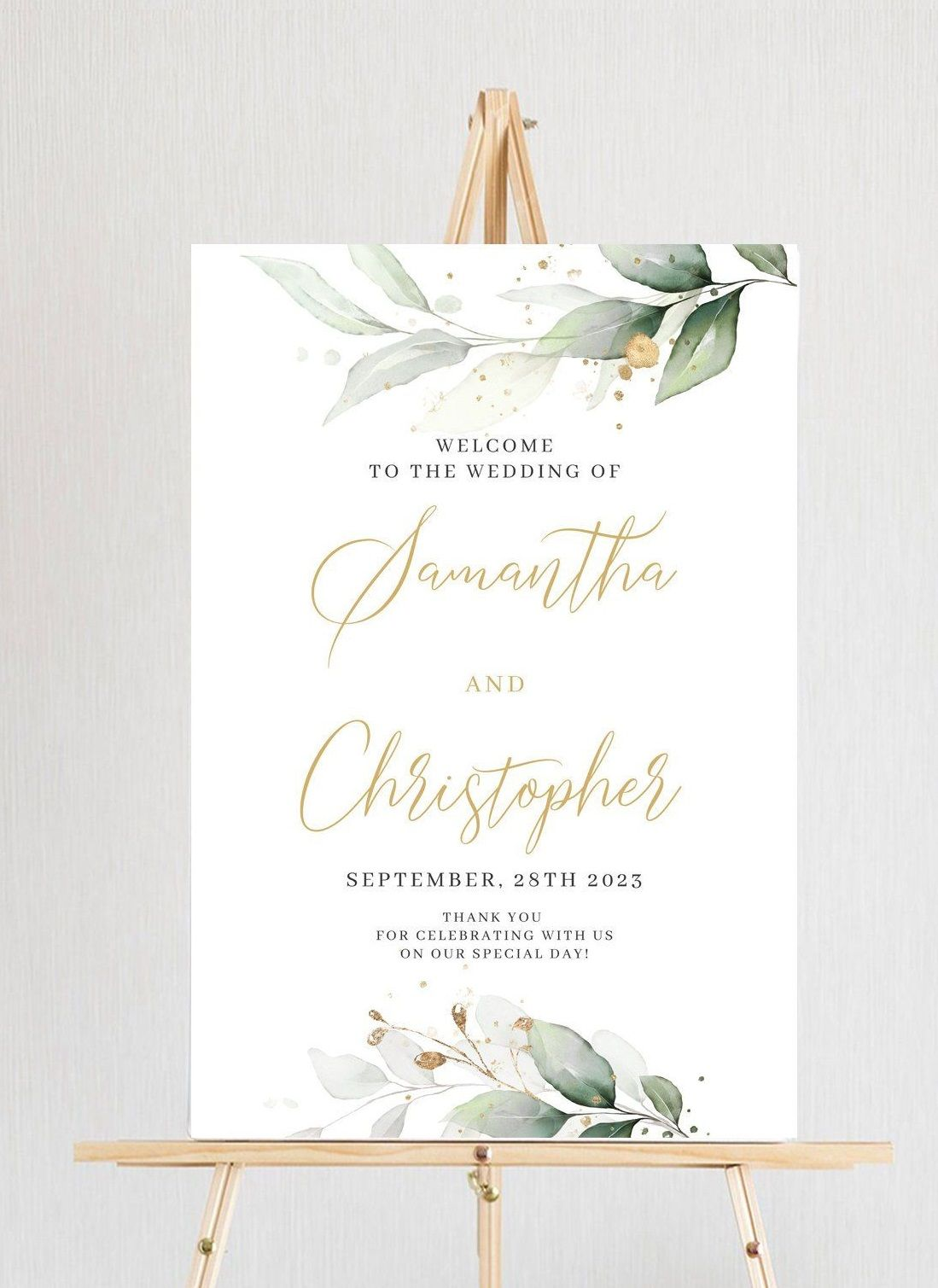 Welcome to our Wedding Sign - digital download