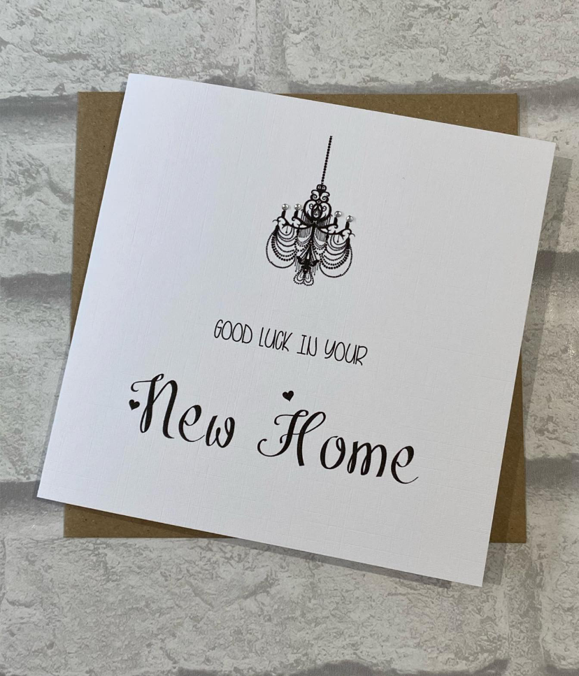 New Home Card chandelier