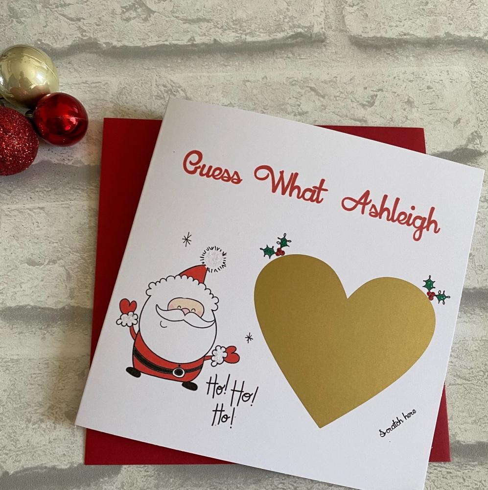 Scratch Card - Christmas Surprise Santa - gold heart