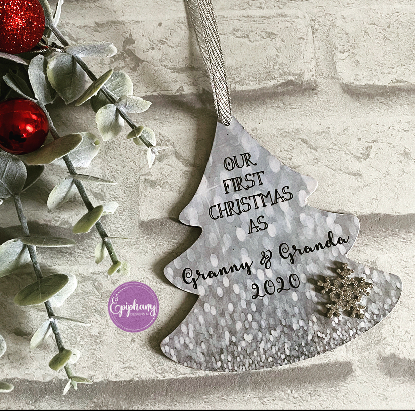 Personalised 1st Christmas Tree Decoration