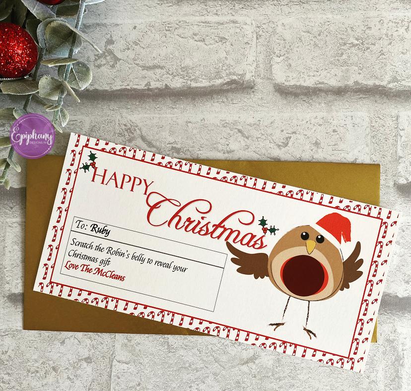 Christmas Scratch Surprise Voucher - Robin