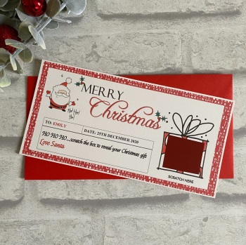 Christmas Scratch Surprise Voucher - Candy cane