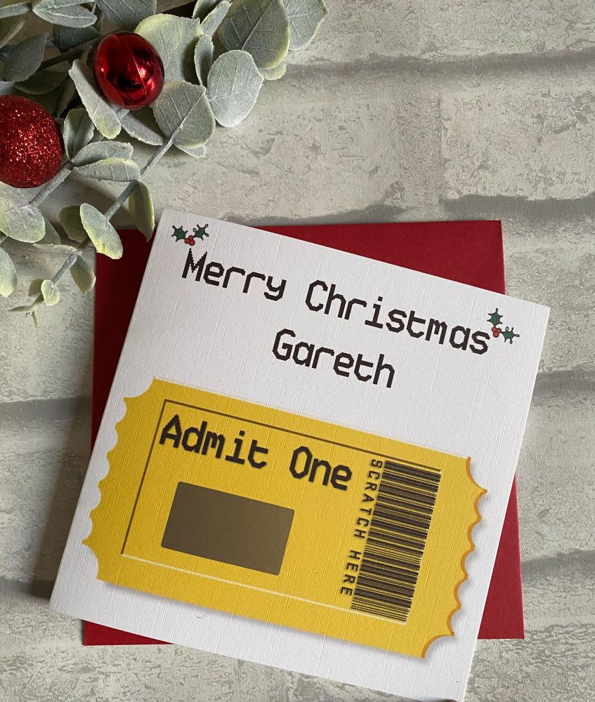 Scratch Card - Admit One - Concert surprise - Christmas Version