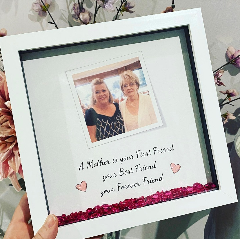 Photo Box Frame - A mother is your first friend