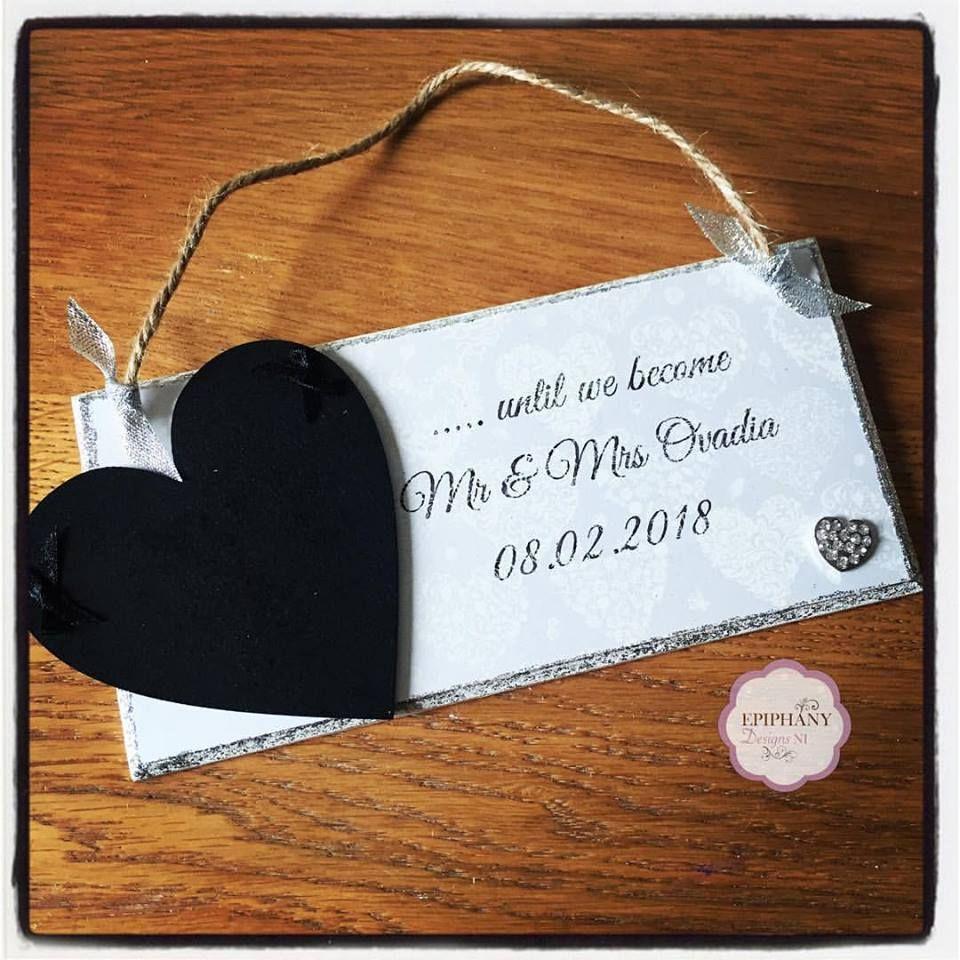 Days until our Wedding - countdown plaque